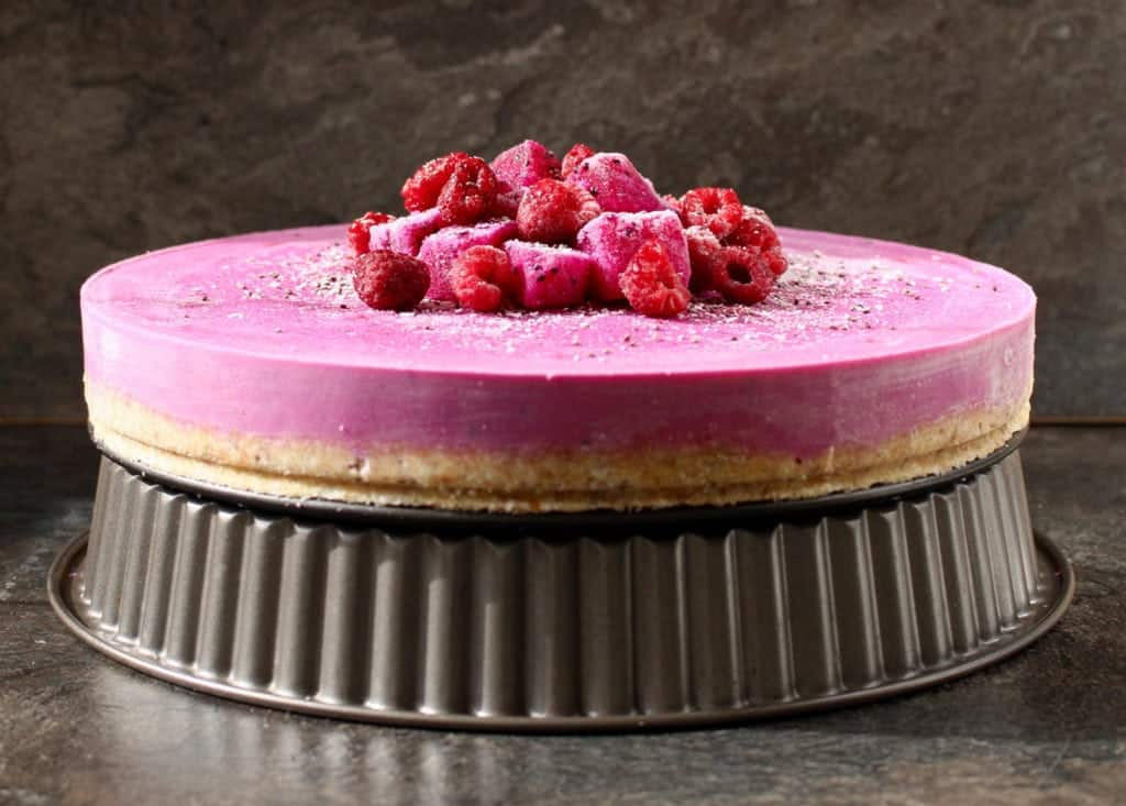 No Bake Dragonfruit Cheesecake