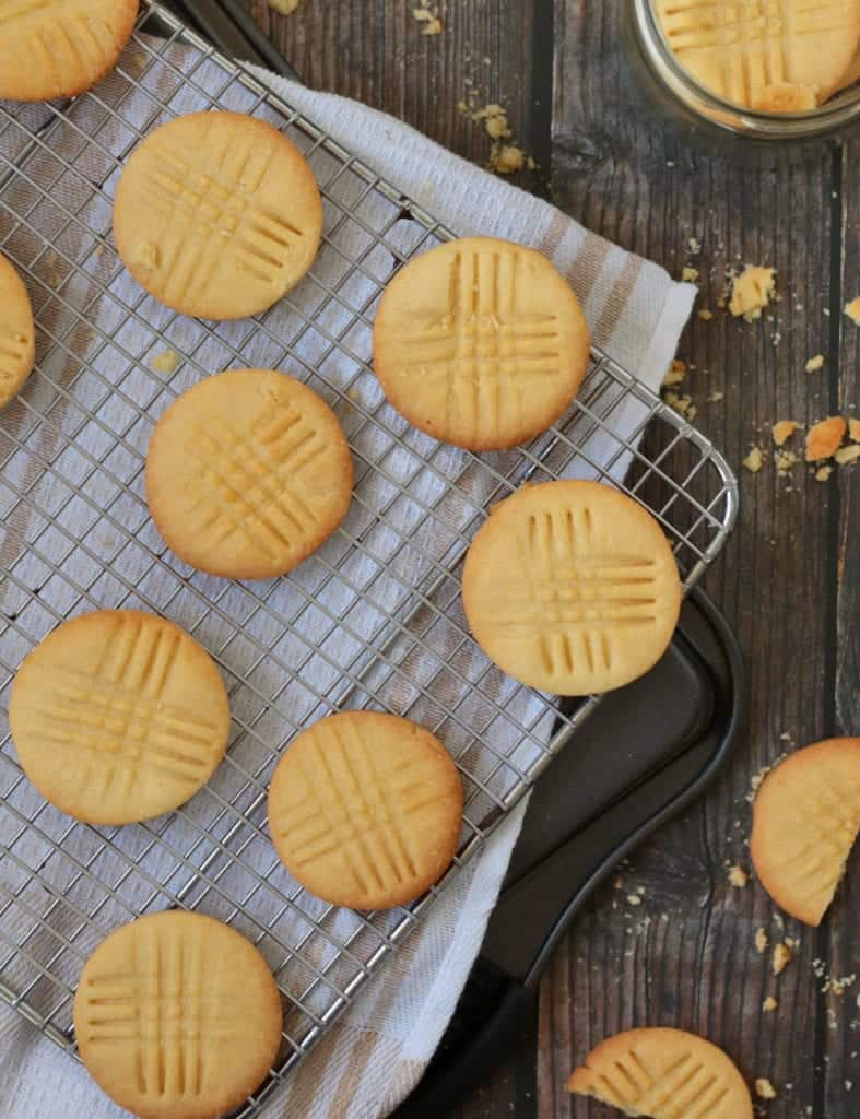 Sable Breton Cookies from above