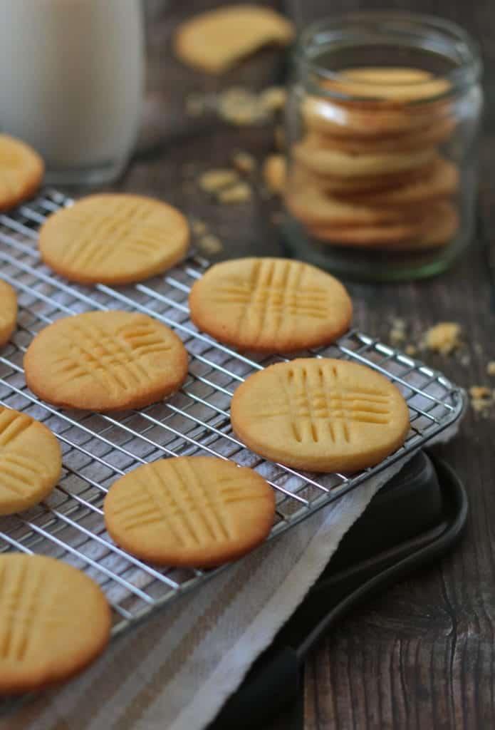 Sable Breton Cookies on cooling rack